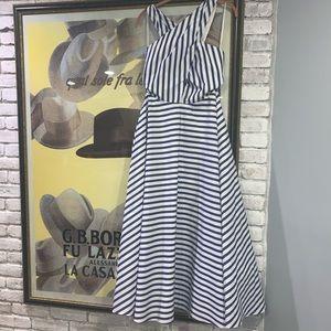 Ralph Lauren Nautical Striped Halter Dress